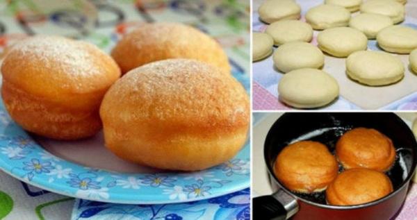 Суперские пончики с начинкой от которых будет без ума вся ваша семья
