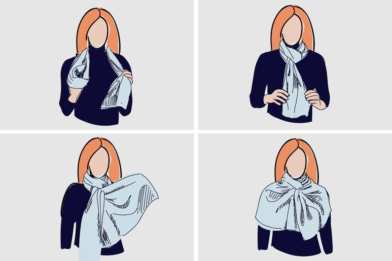 красиво завязать платок