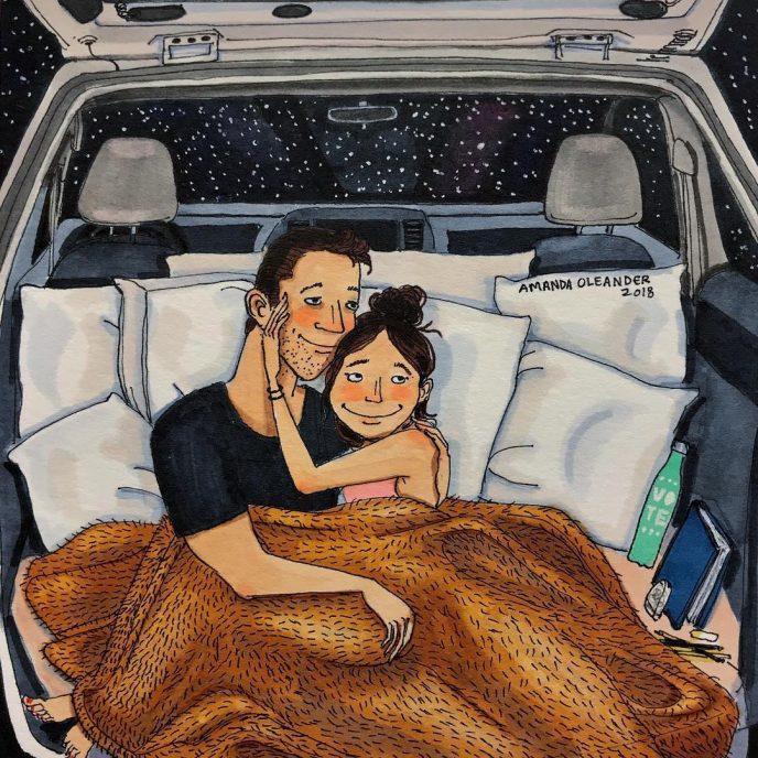 15 теплых рисунков о том, как выглядит любовь, когда никто не видит