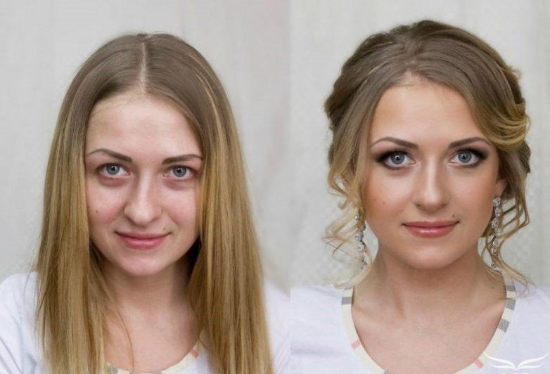 Макияж превращает девушек в красавиц