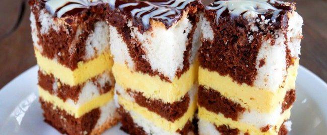 Торт на Новый год с необыкновенным кремом