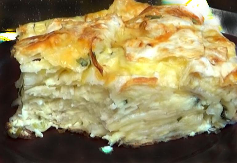 Простой и быстрый пирог из лаваша