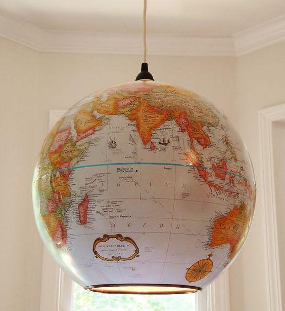 Узнав, зачем старый глобус поместили в тазик, вы захотите сделать так же