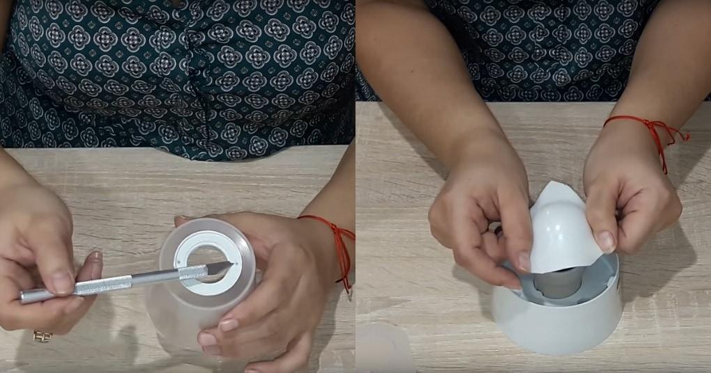 Изящный светильник из изолона своими руками