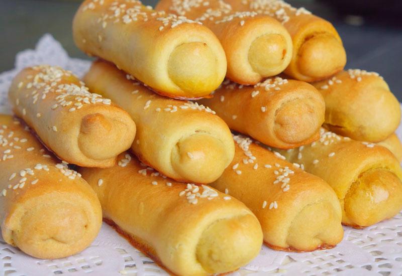 Пирожки-трубочки с капустой без дрожжей