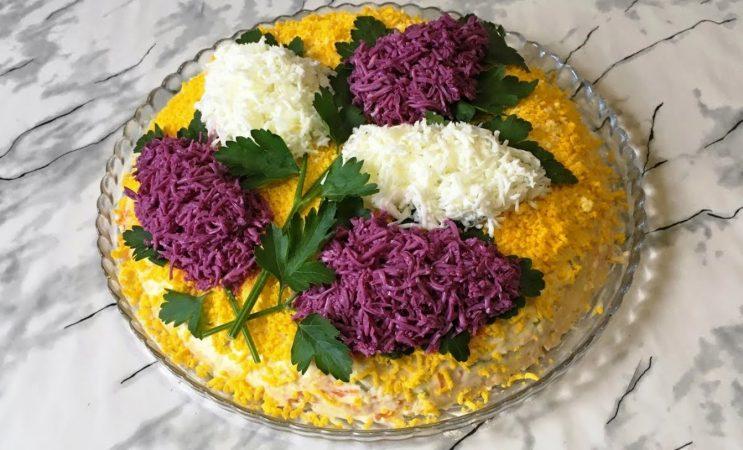 Идеально подойдет на 8 марта! Весенний салат «Сирень»