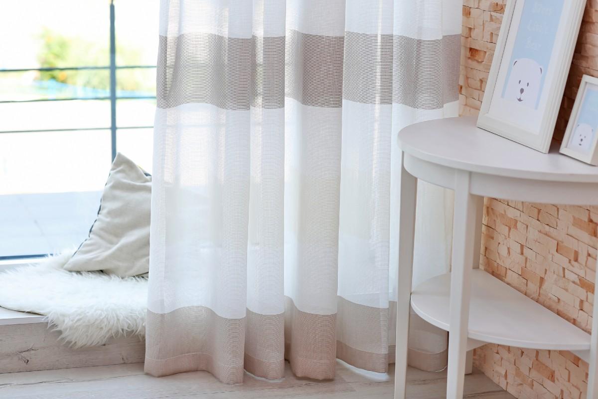 Увеличение длины коротких штор или занавесок без шитья