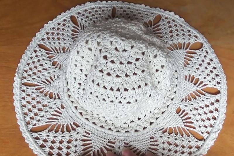 Подробный урок вязания летней шляпки с полями от Светланы Берсановой