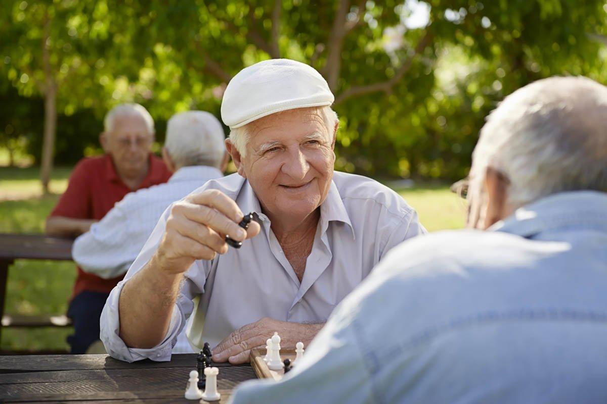 старики играют в шахматы