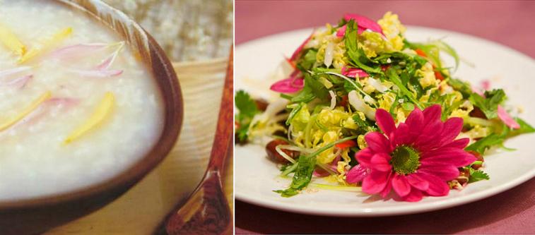 блюда с хризантемой