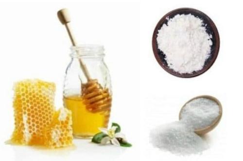 мед, соль и крахмал