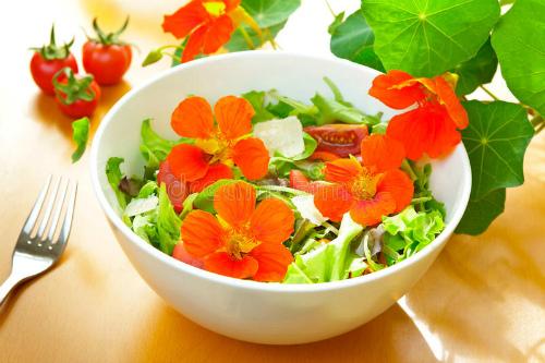 салат из настурции